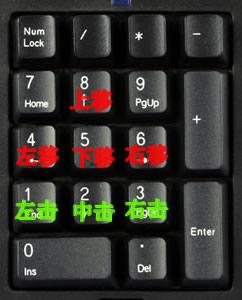 如何用键盘控制鼠标